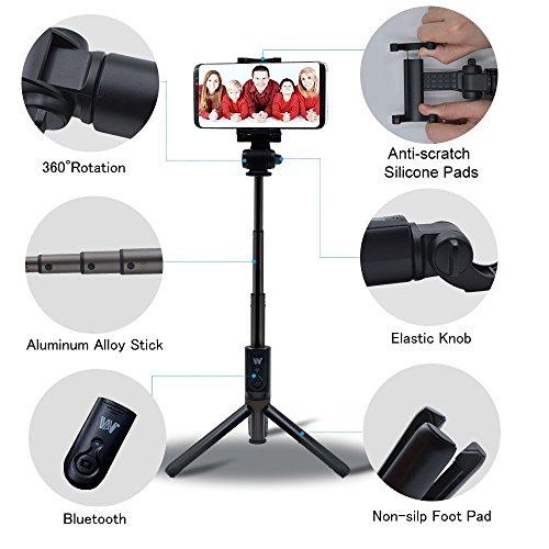 Selfie Stick Bluetooth - Whlzd Extendable Selfie Stick with