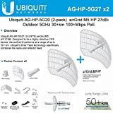 Ubiquiti 2-PACK airGrid M5 HP 27dBi AG-HP-5G27 Outdoor 5GHz 30+km 100+Mbps PoE