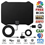 2018 NEWEST TV Antenna,Indoor Amplified Digital HDTV Antenna 60+ Mile Range with 4K 1080P HD VHF UHF Freeview TV for Life Local Channels Broadcast for All Types of Home Smart Television