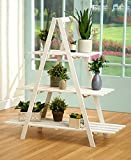 The Lakeside Collection 3-Tier A Frame Wood Shelving- White