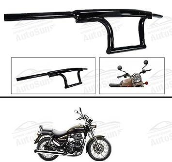 Autosun Bike Handle Bar Dual Triple Curved Pipe Handlebar Black