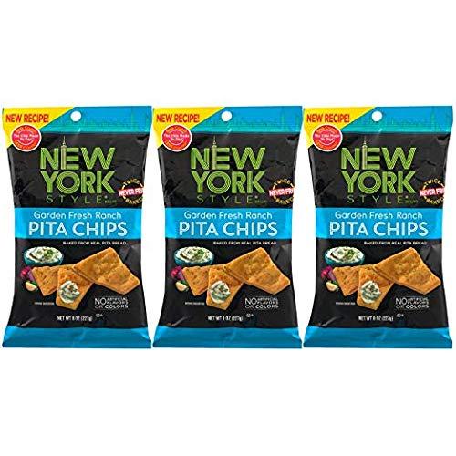 New York Style Pita Chips, Garden Fresh Ranch (Pack of 3)