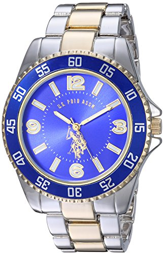U.S. Polo Assn. Men's Two-Toned, Royal Blue Dial, Automatic Quartz Metal/Alloy Fold-Over-Clasp Watch - ()
