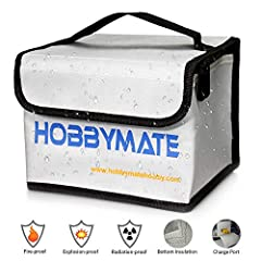 TargetHobby Fireproof Explosionproof Lipo Safe Bag for Lipo Battery Storage Guard Safe Bag and Charging.                                              Why do we need a lipo security bag?              The Lipo batteries have a r...