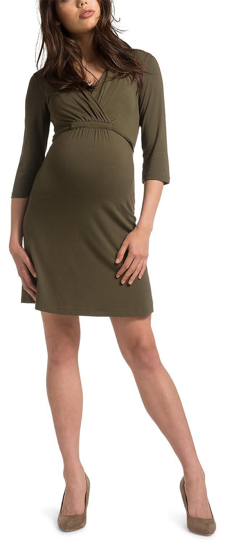 ESPRIT Maternity Damen Umstandsmode Kleid B84274, V-Ausschnitt