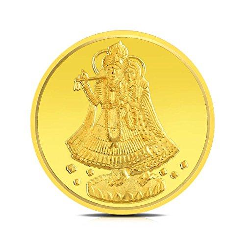 Rockrush BIS hallmarked 2 gm, 24KT Yellow Gold Coin