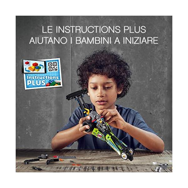 LEGO Technic - Dragster con Tecnologia PullBack, Set di Costruzioni per Bambini +7 Anni, 42103 4 spesavip