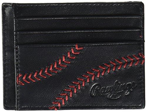 Rawlings Men's Baseball Stitch Card Case, Black