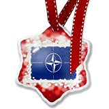 Christmas Ornament NATO (North Atlantic Treaty Organization) Flag, red - Neonblond