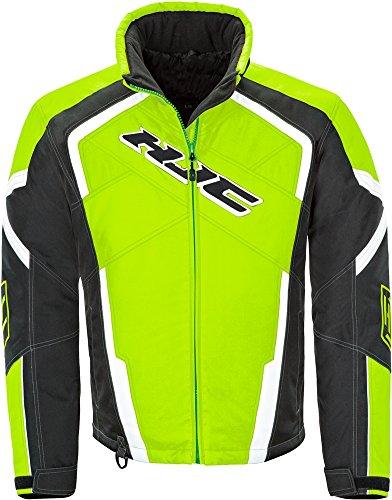 [HJC Storm - Mens' Snowmobile/Motorcycle Windproof Jacket - Hi-Vis Yellow - Large] (Snow Motorcycle Jackets)