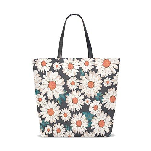 Print Flower Daisy Blossom Shopping Women Beach Travel Bags Tote Tote Handbag Totes TIZORAX Bag for qxwgTC