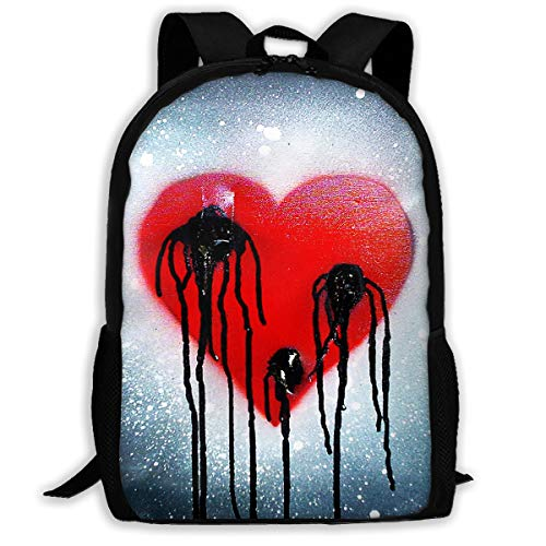 Webb Backpack Briefcase Laptop Travel Hiking School Bags Bleeding Heart Stylish Daypacks Shoulder Bag ()