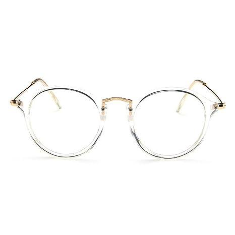 021345d0fef Forepin® Lunettes de Vue Rondes Unisex Cadre Frame Lentille Claire pour  Homme et Femme Vintage  Amazon.fr  High-tech