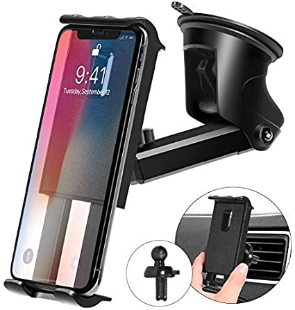 Car Phone Holder Car Phone Mount Anti-Slip Silicone Car Pad for Car Dashboard Cell Phone Holder Car Phone Holder Desk Phone Stand Compatible with iPhone XR//XS,Samsung Galaxy Note 8//9//S8//S9,GPS Devices