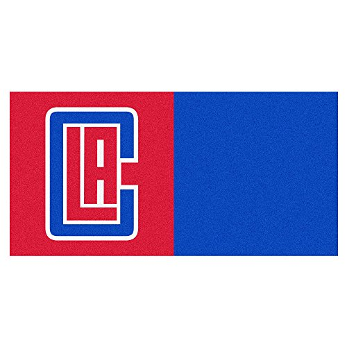 FANMATS NBA Los Angeles Clippers Nylon Face Team Carpet Tiles by Fanmats