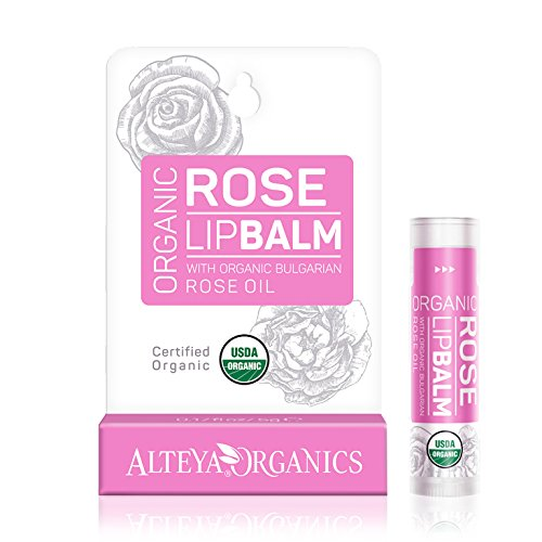 Organic Lip Balm - w/ Rose Oil - USDA certified organic