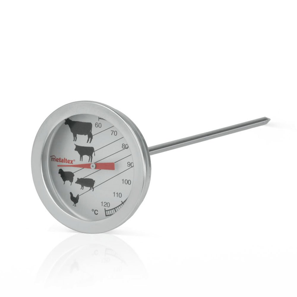 Metaltex Roast and BBQ Thermometer of Stainless Steel, Silver 298046