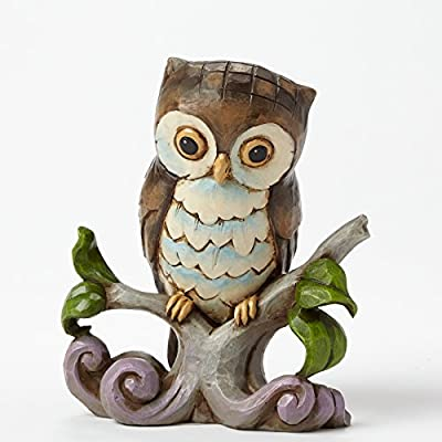 Jim Shore Heartwood Creek Owl Bird on Tree Branch Miniature Figurine 4044525 New