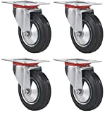 "Best Rubber Wheels - 4 Pack 3"" Swivel Caster Wheels Rubber Base Review"