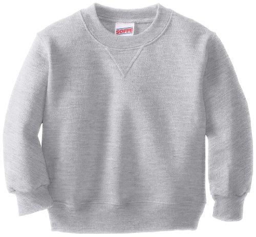 (Soffe Little Boys' Crew Sweatshirt, Oxford, Small)