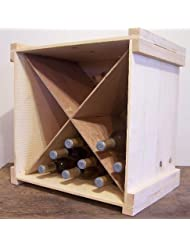 Wooden Wine Or Beverage Bottle Storage Box With Divider