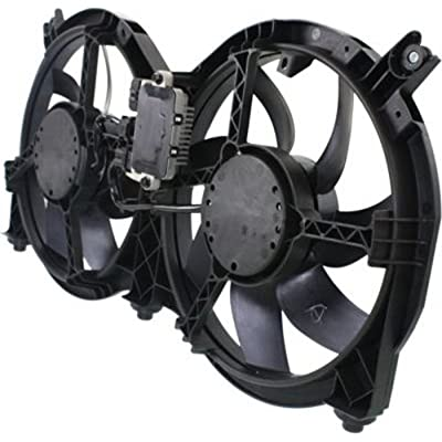 CPP Center Dual Cooling Fan for Infiniti JX35, QX60, Nissan Pathfinder NI3115149: Automotive
