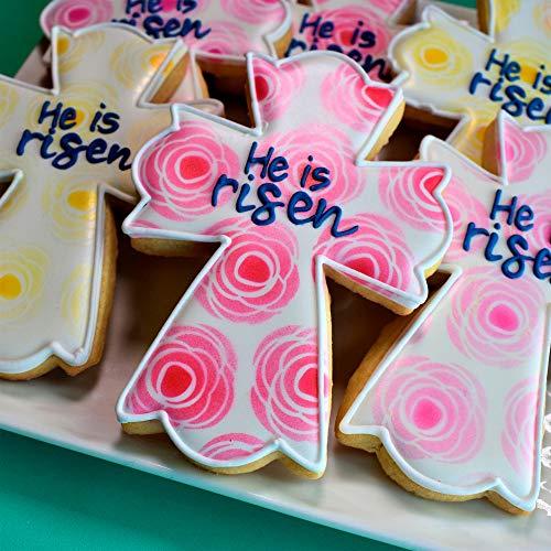 "Ann Clark Cookie Cutters Large Fancy Cross Cookie Cutter by Flour Box Bakery, 4.5"""