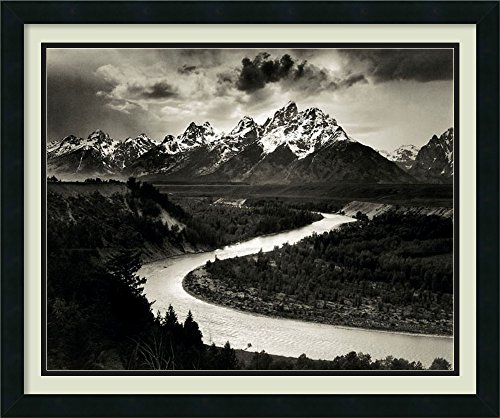 Framed Art Print, 'The Tetons and the Snake River, Grand Teton National Park, Wyoming, 1942' by Ansel Adams: Outer Size 26 x 22