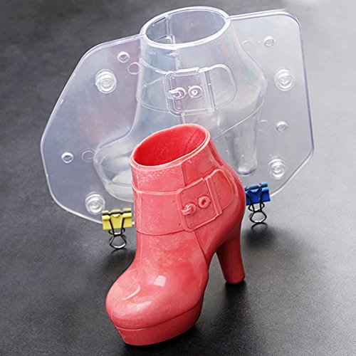 Ladies Boots Shoes Chocolate Candy Mould 3D Fondant Jelly Cake Mold for DIY Home Baking Tool Small