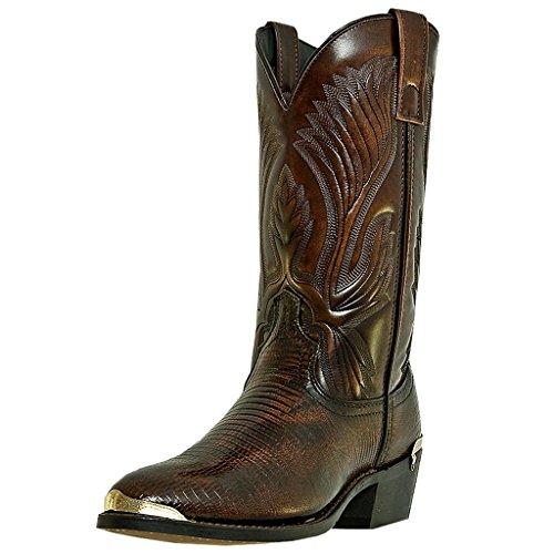 Laredo Western Boots Mens New York Exotic Lizard 10 D Peanut