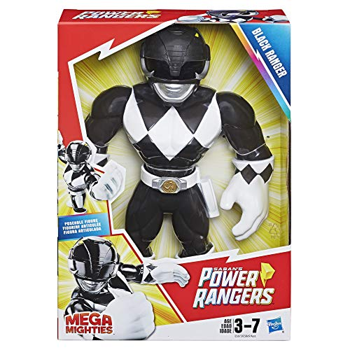 Playskool Heroes Mega Mighties Power Rangers Black Ranger 10-inch Figure from Playskool