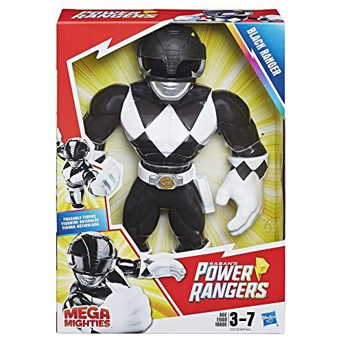 Power Rangers Black Ranger (Playskool Heroes Mega Mighties Power Rangers Black Ranger 10-inch)