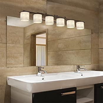 Justice Design Group Clouds 6Light Bath Bar Dark Bronze Finish
