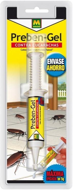 PREBEN 231449 Insecticida cucarachas Gel, Transparente, 9.8x25.7x3 cm