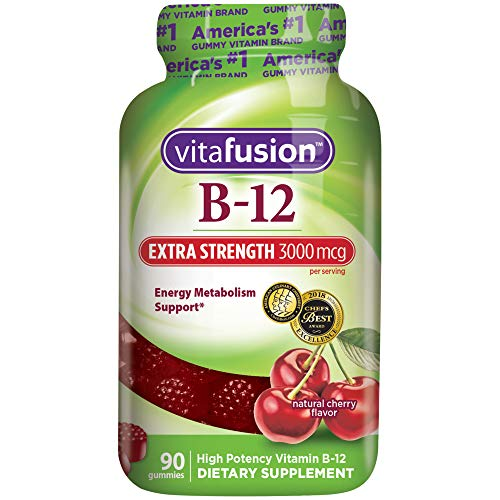 Vitafusion Extra Strength Vitamin B12 Gummies, 90 Count (Packaging May Vary) (Iron Supplements For Kids That Taste Good)