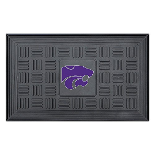 Fanmats Kansas State University Sports Team Logo Medallion Door - Welcome Ncaa Mat Wildcats
