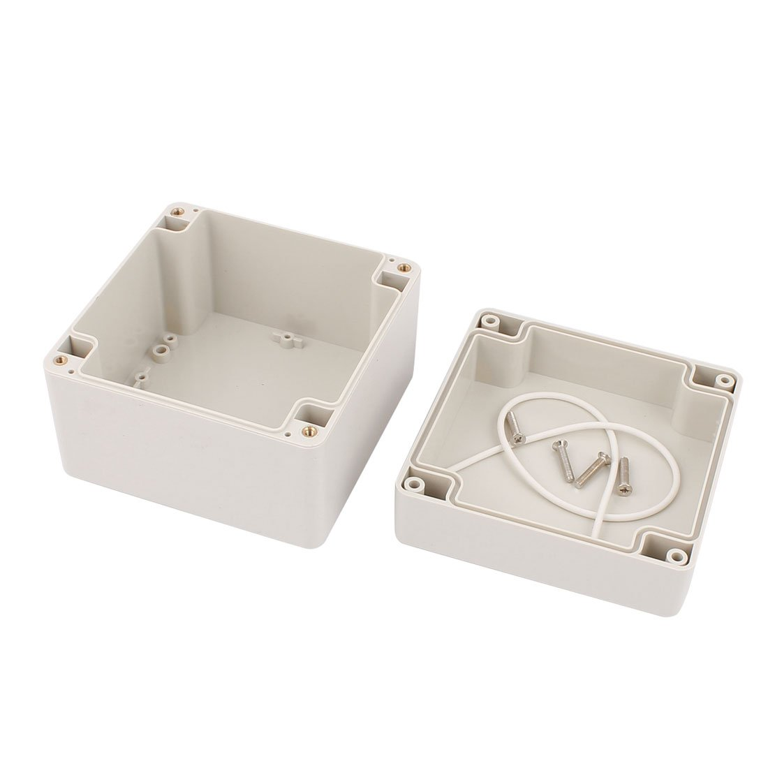 uxcell 120mm x 120mm x 90mm Rectangular Dustproof IP65 Plastic DIY Junction Box Case