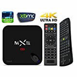 Wangang Upgraded MX3-G MXIII-G Android5.1 Lollipop 4K TV Box Amlogic S812 Quad Core CPU + Qcta Core Mali-450 GPU + Gigabit 1000MB/S +2GB/16GB WIFI Streaming Media Player Device +Free RC11 Keyboard