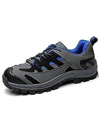 TeLe Xia Men's Work Safety Slip Oil Resistant Non Slip Lace Up Shoes