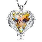ANCREU Angel Wing Love Heart Necklaces Gifts for Women (2Color-Changing)