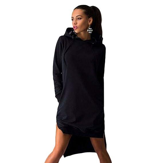 XSQR Bolsillos de Las Mujeres Pullover Svitshot Sudaderas con ...