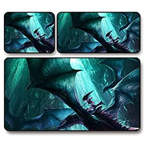 GW World of Warcraft wow night elf dragon gaming mouse pad super thick , 26 * 21 * 0.3 cm
