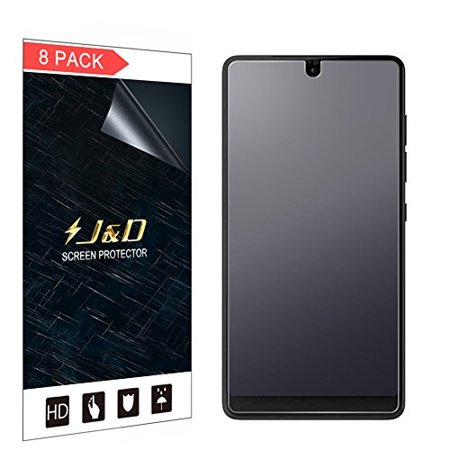 J&D Compatible for 8-Pack Essential PH-1 Screen Protector, [Anti-Glare] [Anti-Fingerprint] [Not Full Coverage] Matte Film Shield Screen Protector for Essential PH-1 Matte Screen Protector
