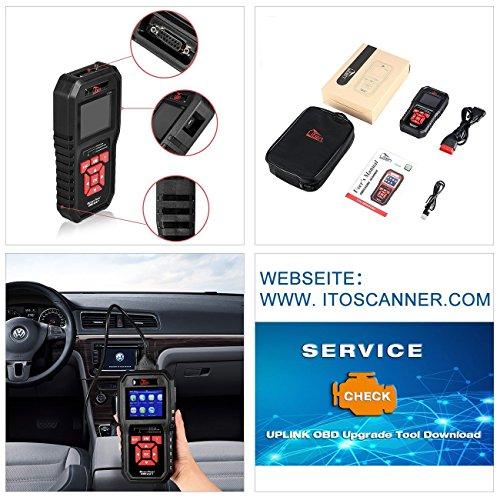 Uten OBD2 Scanner Automatic Car Error Code Reader English Diagnostic Tools Auto 12V Compatible Gasoline Vehicles Read Clear Error Codes [UT850] by Uten (Image #4)