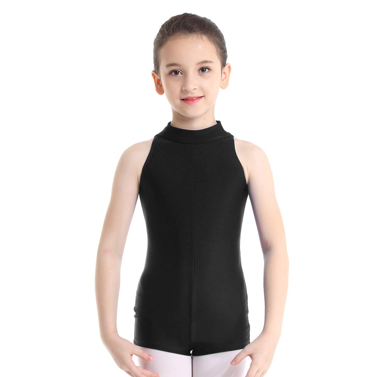 24c286d3e46 Amazon.com: iiniim Girls Mock Turtle-Neck Ballet Dance Leotard Unitard  Bodysuit Jumpsuit Gymnastics Dancewear: Clothing