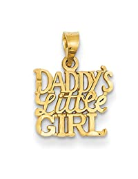 Daddy'S Little Girl Charm - 14k Yellow Gold - 13x16mm - 0.6gr