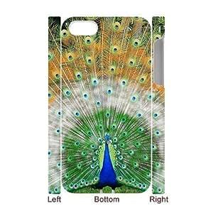 lintao diy Generic Unique Otterbox-- Design Peacock Custom 100% Plastic Case Cover for iPhone4 iPhone4S