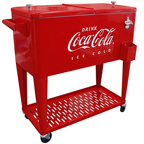Find Cheap Leigh Country CP 98126 80 Qt Grated Tray Coca-Cola Cooler, Red