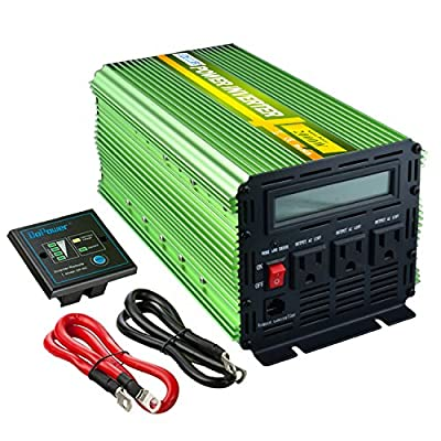 Edecoa 2000W Power Inverter DC 12V to 110V AC with LCD Display and Remote