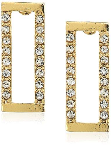 Rebecca Minkoff Geo Rectangle Gold Stud Earrings